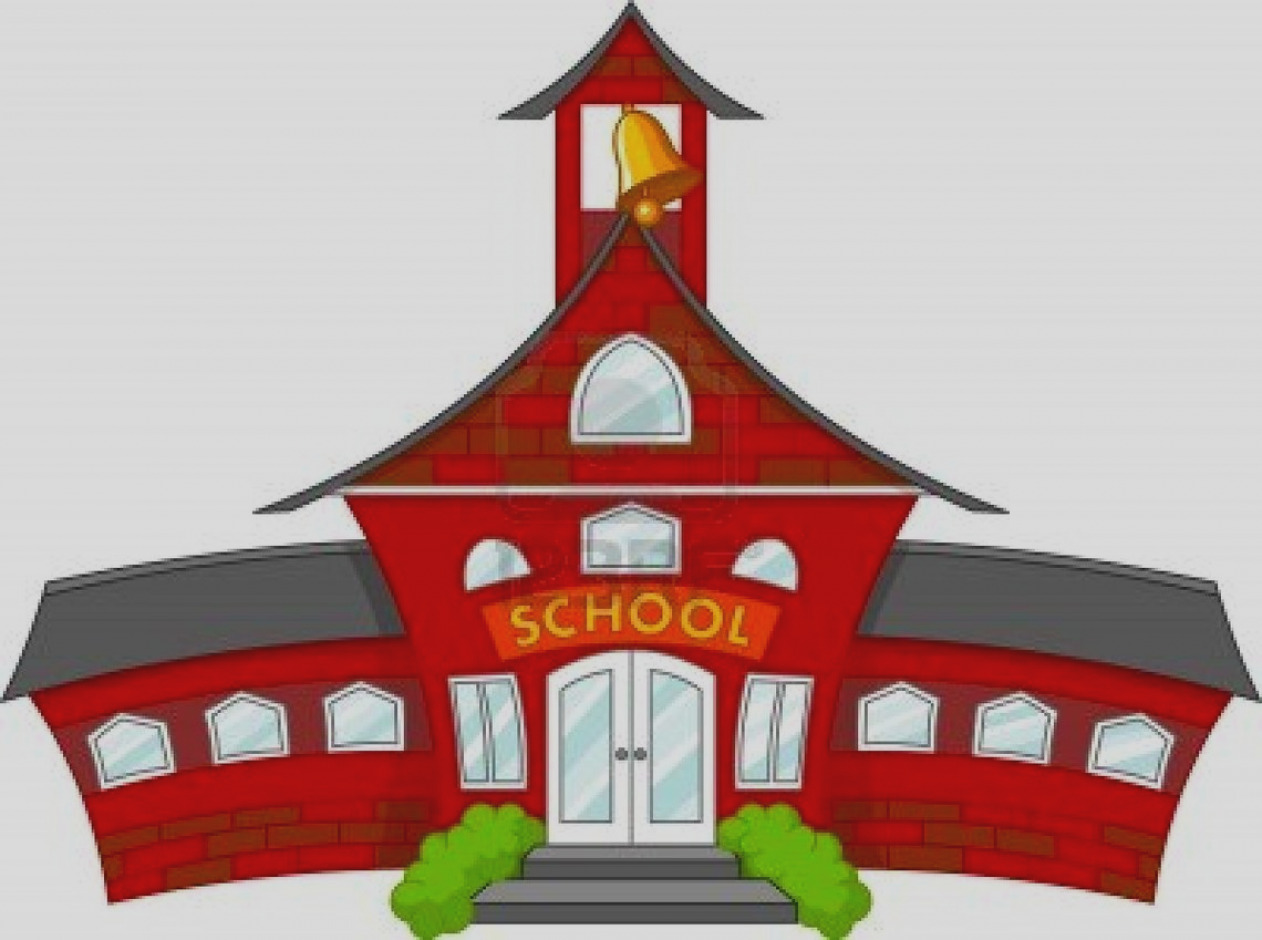 1262x940 Elegant High School Clip Art Clipart Cartoon Building Middle