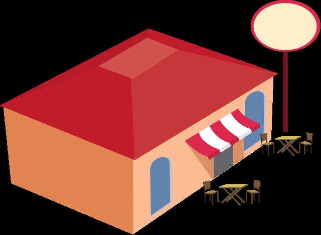 640x469 Filerestaurant Building Clip Art.svg