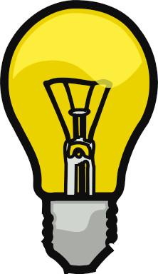 222x384 Free Clip Art Light Bulb Idea Light Bulb Clip Art Black And White
