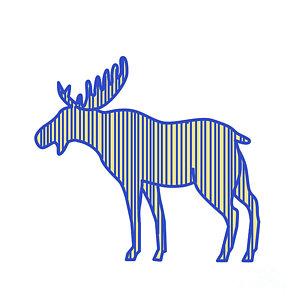 300x300 Bull Elk Digital Art Fine Art America