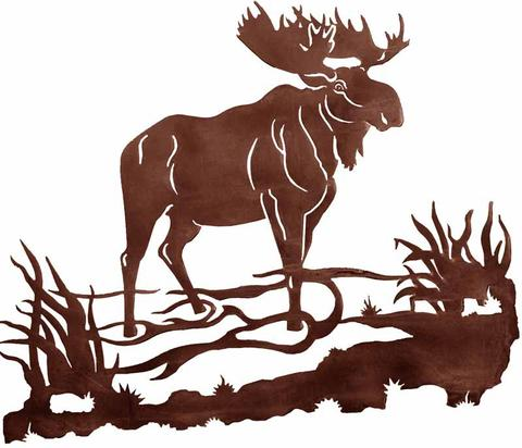 480x412 Bull Moose Design 30 Metal Wall Art Inspired By The Outdoors