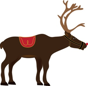 300x293 Cartoon Reindeer Clipart