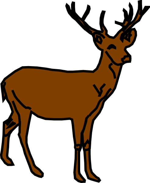 492x598 Deer Clipart Black And White Clipart Panda