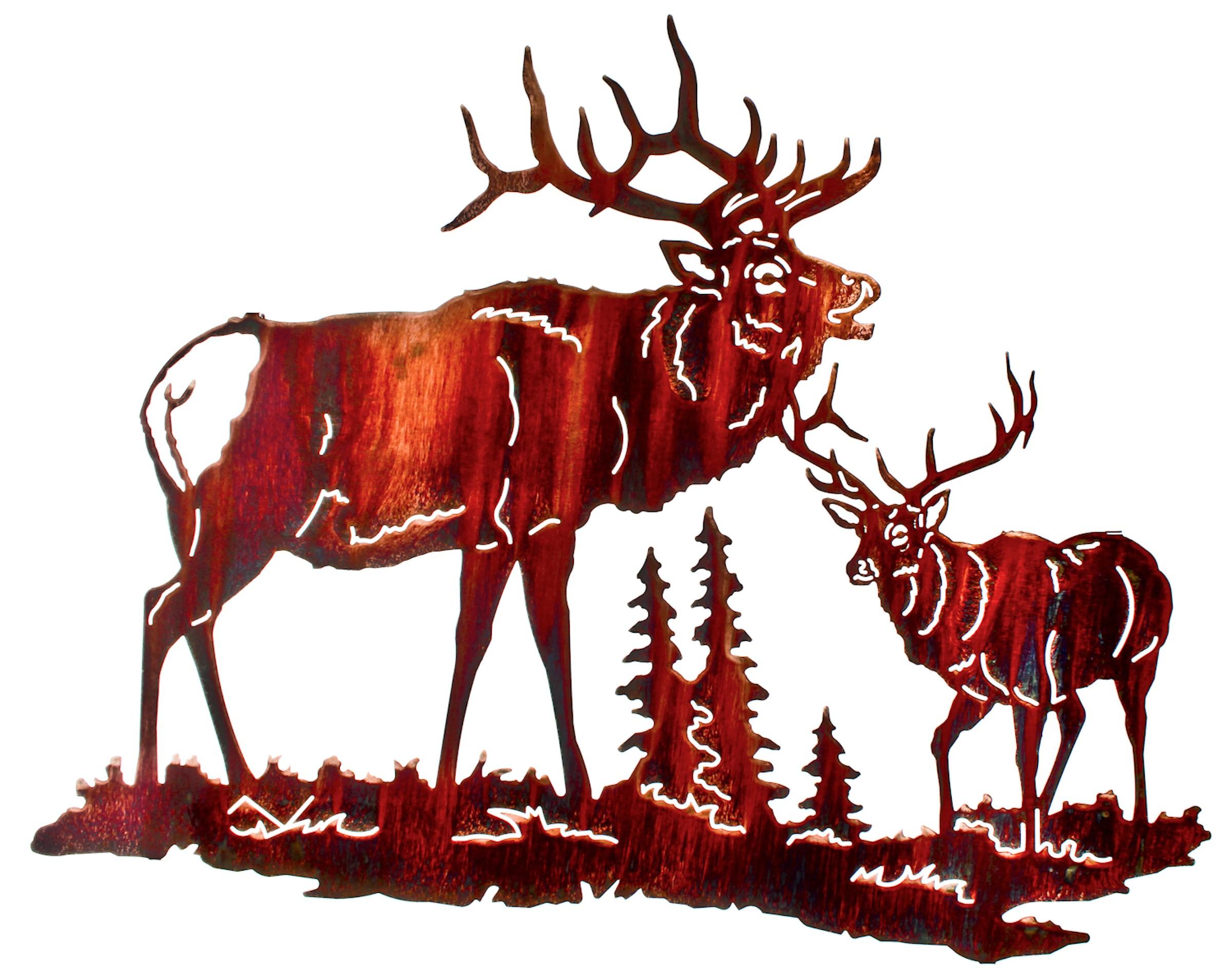 2400x1902 Elk Metal Wall Art, Elk Metal Wall Hangings, Elk Metal Wall Hanging