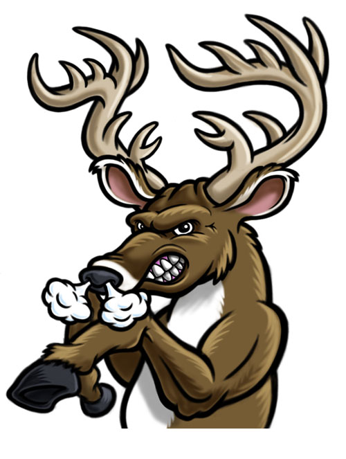 500x663 Elk Clipart Angry