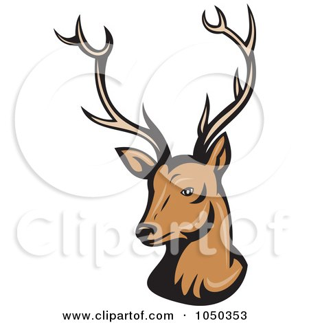 450x470 Royalty Free (Rf) Clip Art Illustration Of A Reindeer Head By