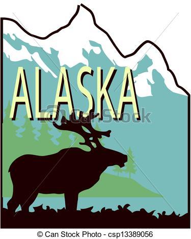 375x470 Alaska Clipart Vector