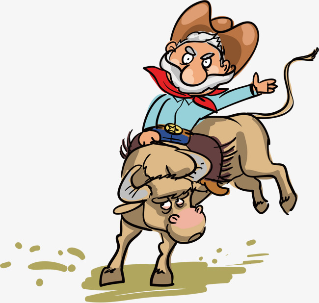 650x618 Bull Riding Old Man, Bull Riding, The Old Man, Run Png And Vector
