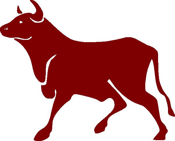 600x485 Clip Art Cartoon Black Bull Clipart