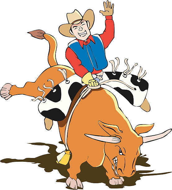 555x612 Collection Of Bull Riding Clipart High Quality, Free