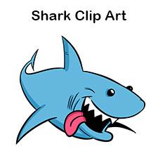 225x225 Free Cartoon Shark Clipart, Shark Outline And Shark Silhouette