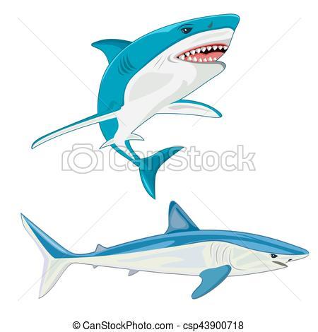 450x470 Shark. Vector Illustration Vector Clip Art