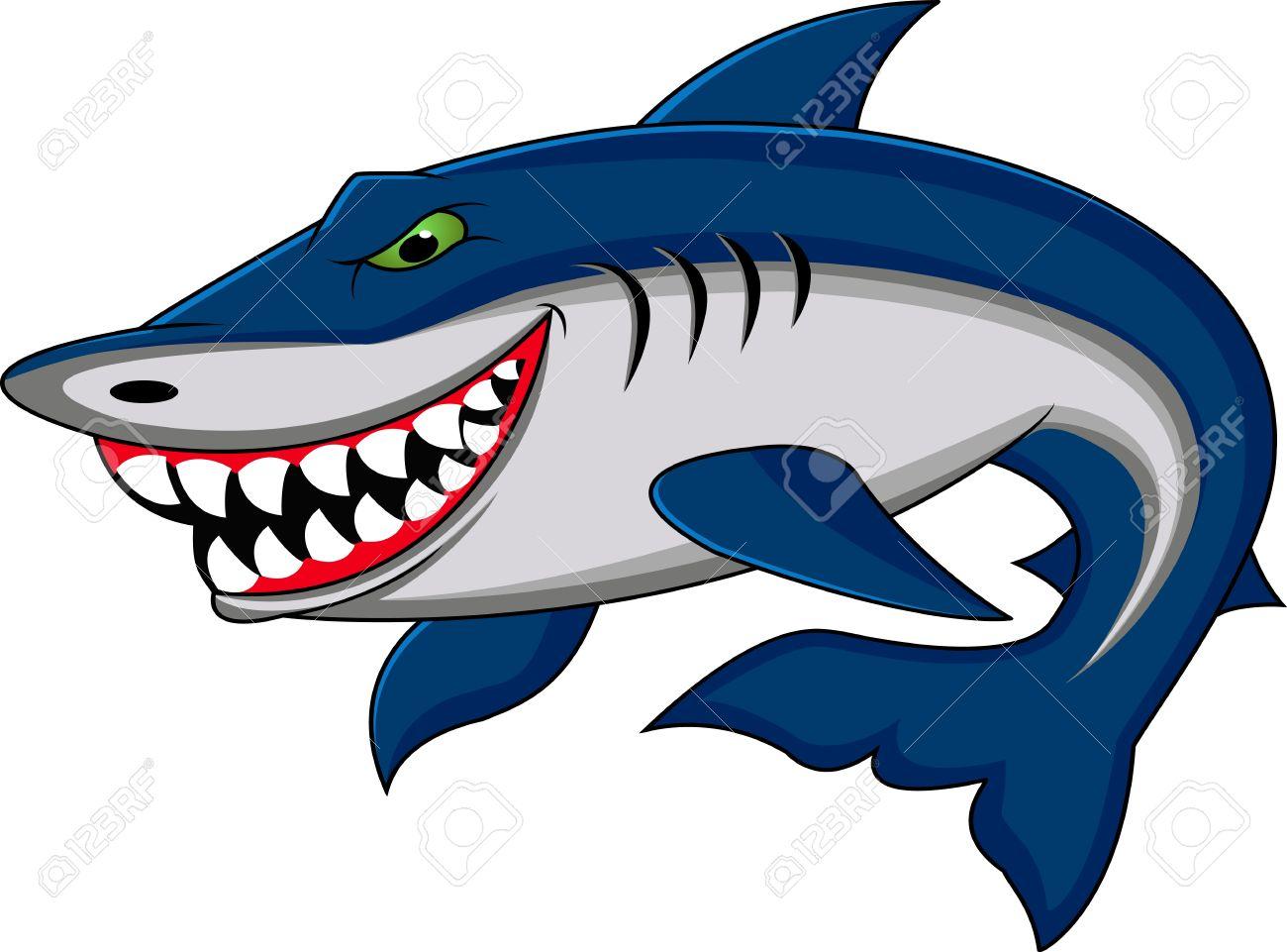 1300x961 Tiger Shark Clipart Funny