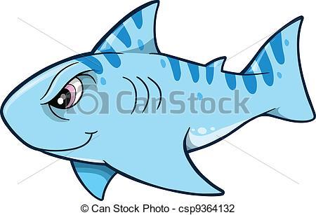 450x307 Tough Shark Vector Illustration Vector Illustration