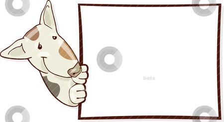 450x245 Bull Terrier Dog And Card Stock Vector
