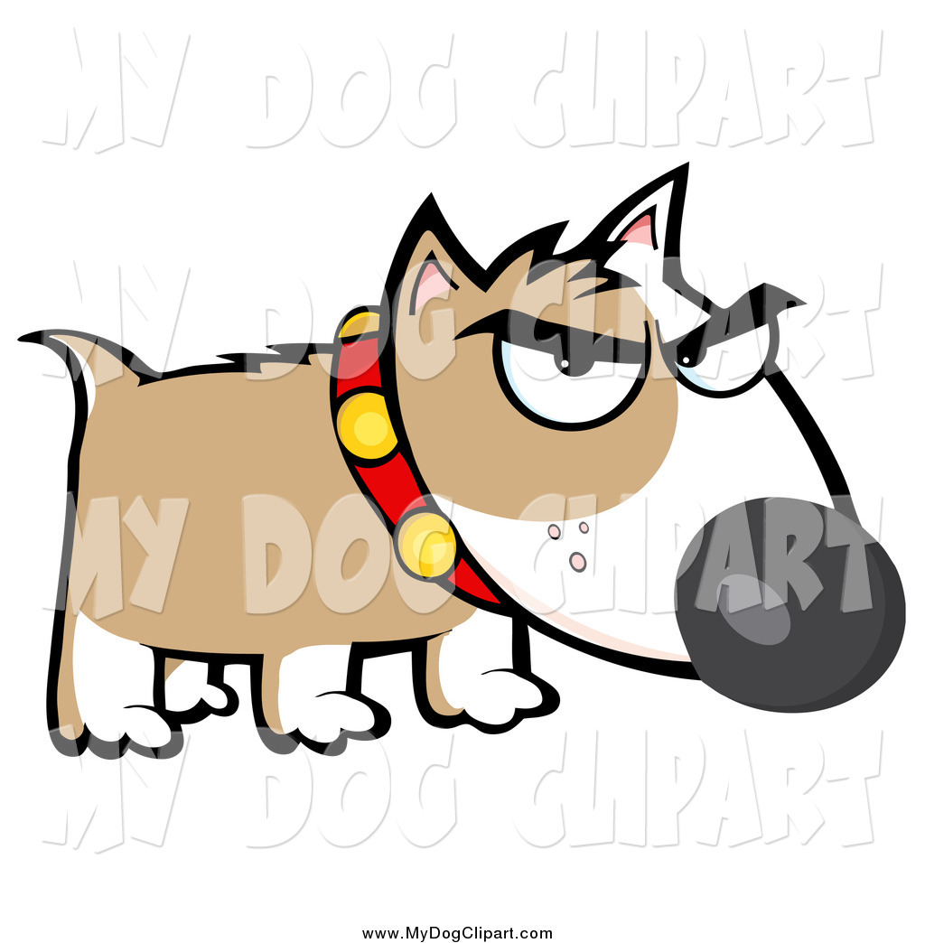 1024x1044 Clip Art Of A Mean Bull Terrier Dog By Hit Toon