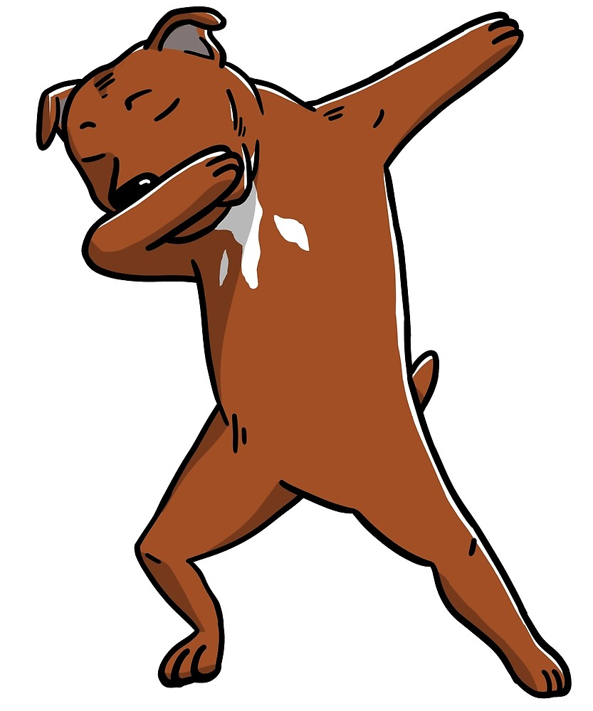 833x1000 Funny Brown Staffordshire Bull Terrier Dabbing By Ilovepaws