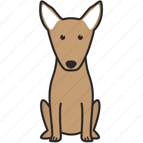 600x600 Miniature Bull Terrier Brown Edition Dog Breed Cartoon