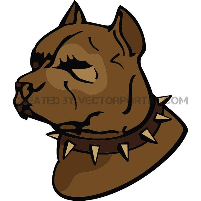 660x660 Pit Bull Dog Vector Illustration