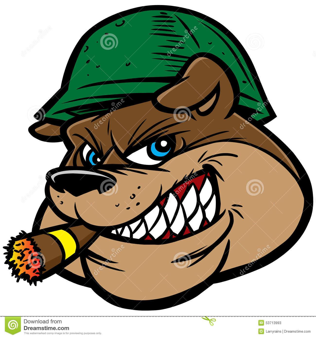 1300x1390 Bulldog Smoking Cigar Clipart