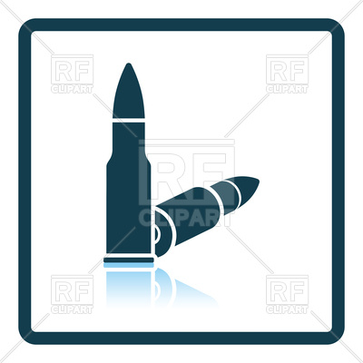 400x400 Shadow Reflection Design Of Bullets Icon Royalty Free Vector Clip