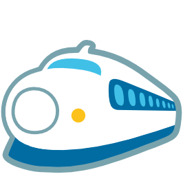 266x266 Emoji Android High Speed Train With Bullet Nose