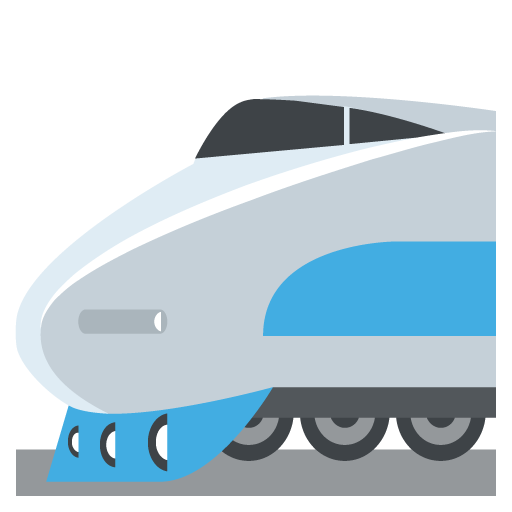 512x512 High Speed Train With Bullet Nose Emoji Vector Icon Free