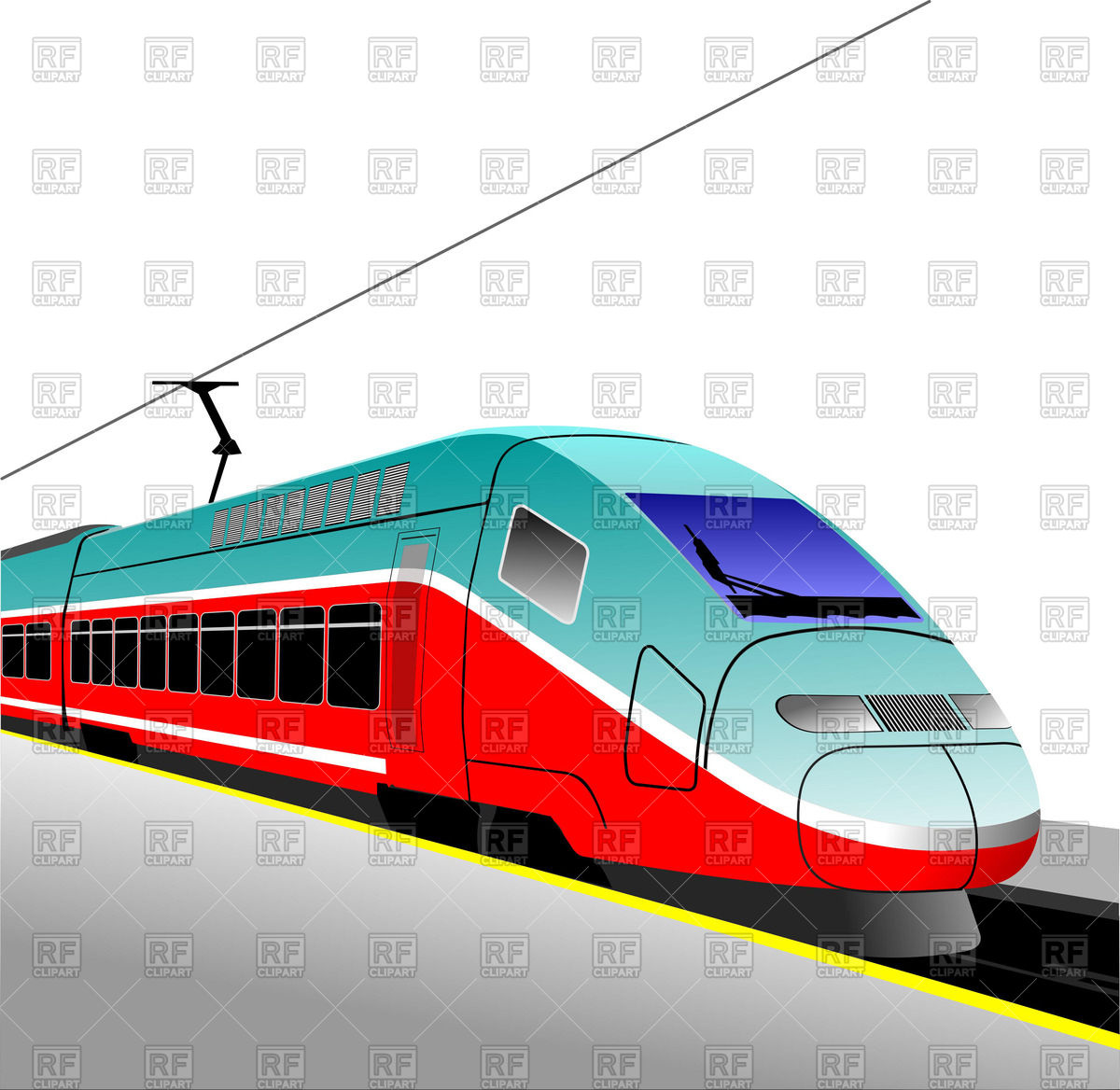 1200x1168 Modern Bullet Train Royalty Free Vector Clip Art Image