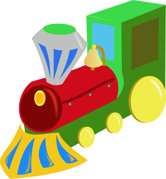 552x595 Cartoon Train Clipart