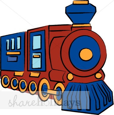 383x388 Choo Choo Train Clipart