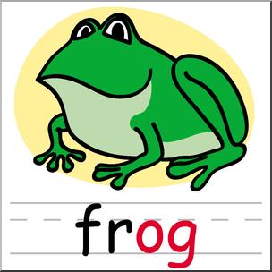 304x304 Clip Art Basic Words Og Phonics Frog Color I