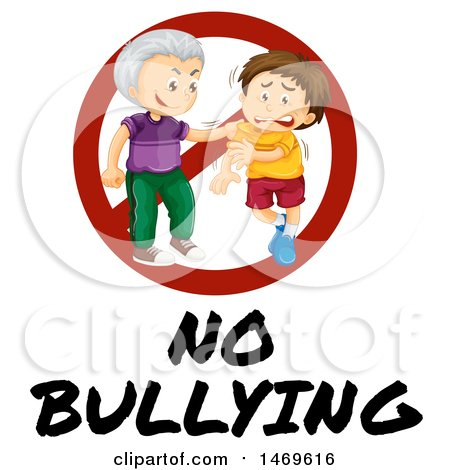 450x470 Clipart Of A Mean Boy Bullying Other Kids