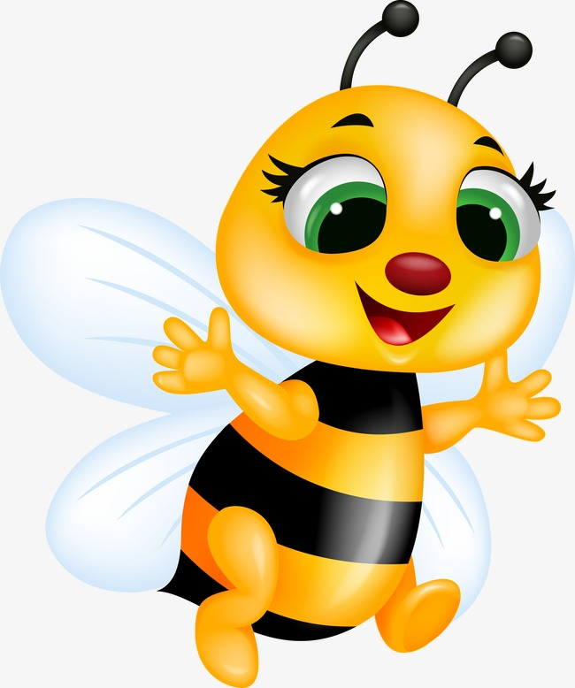 650x778 Cute Bee, Lovely, Bee, Cartoon Png Image And Clipart For Free Download
