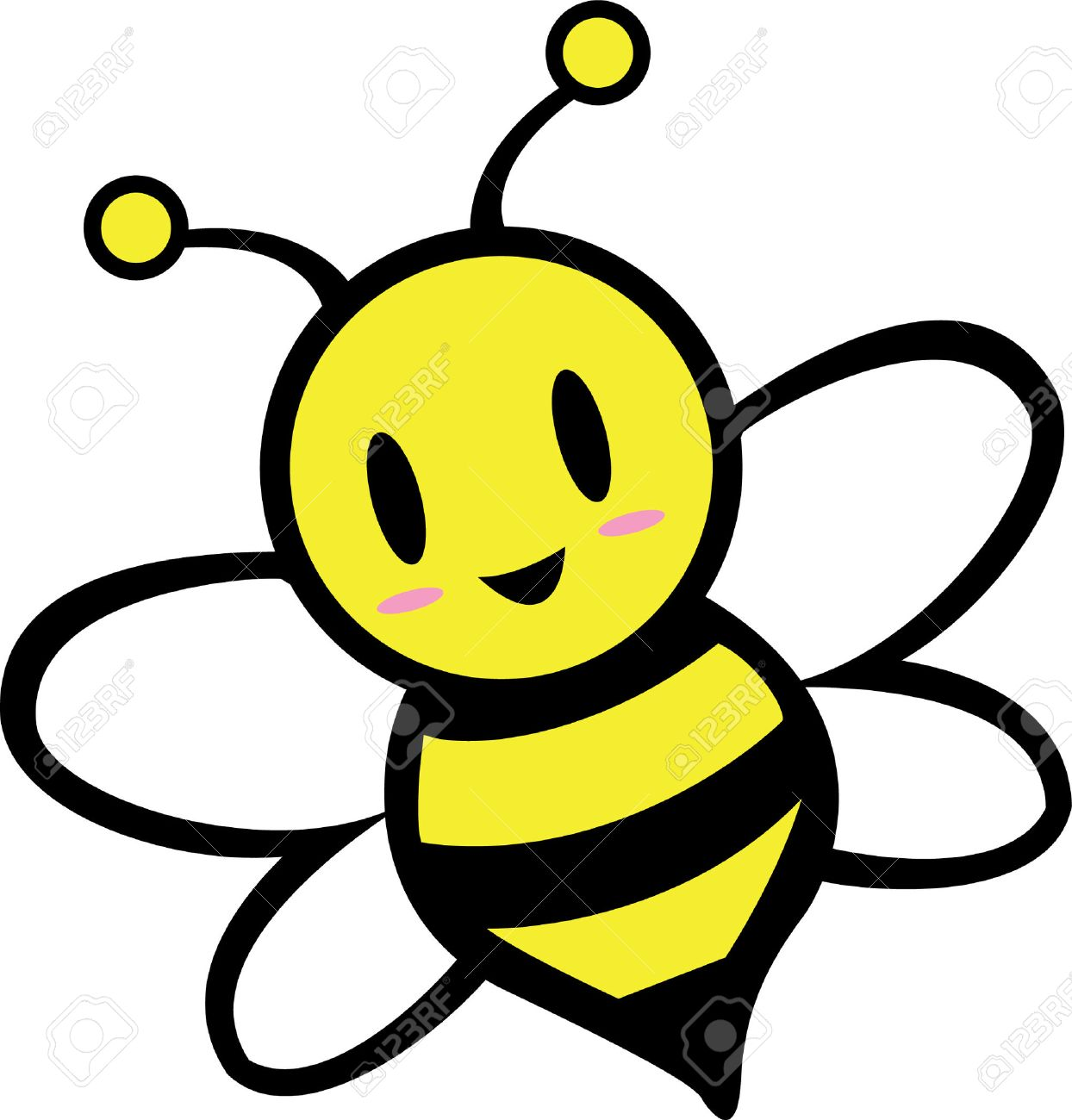 1244x1300 Improved Cartoon Images Of Bees Bee Royalty Fr