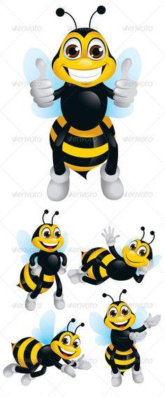236x567 Drawn Bumblebee Cartoon Character
