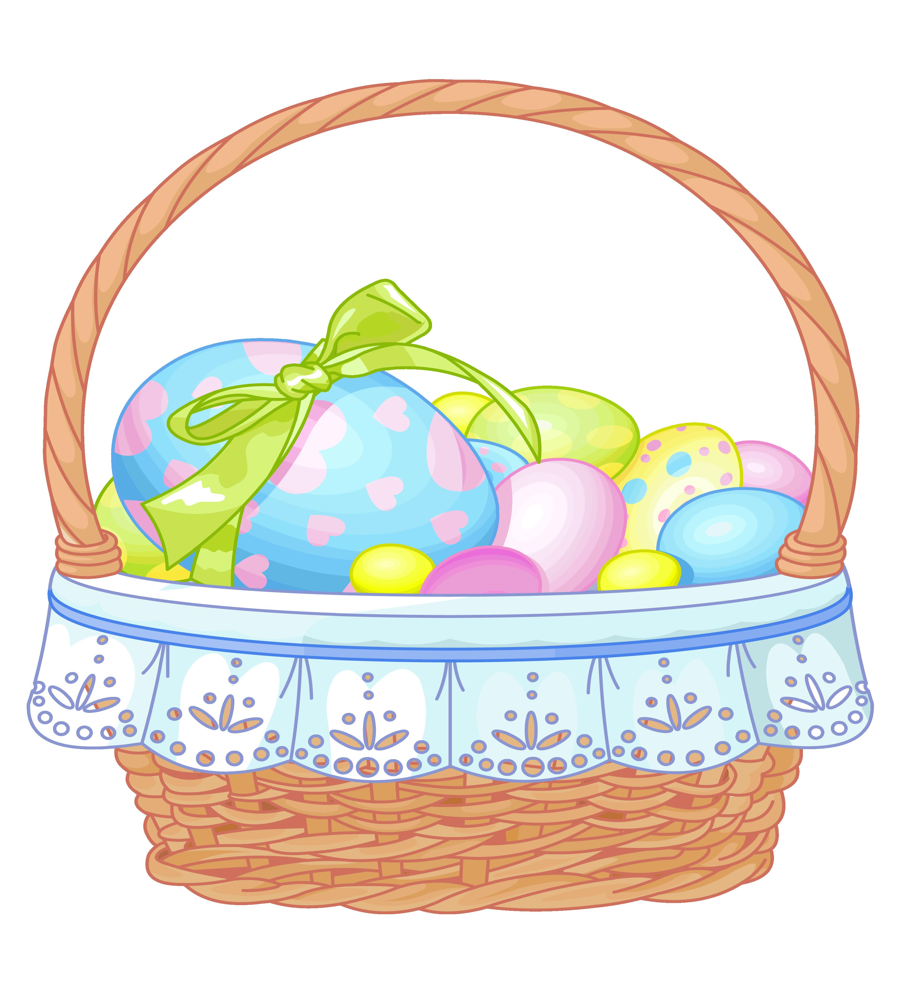 3467x3836 Easter Basket Bunny Png Transparent Easter Basket Bunny.png Images