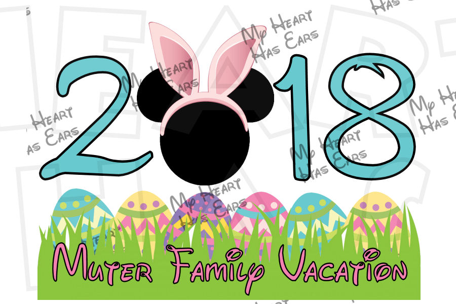 900x600 Disney Easter With Mickey Mouse Bunny Ears 2018 Personalized