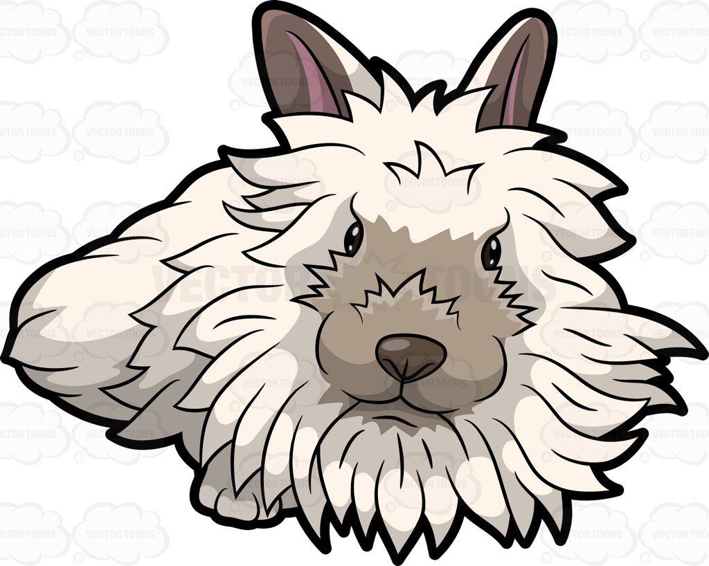 1024x818 A Furry White Rabbit Cartoon Clipart Vector Toons