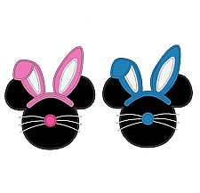 225x217 Mickey Mouse With Pink Easter Bunny Ears Instant Download Digital