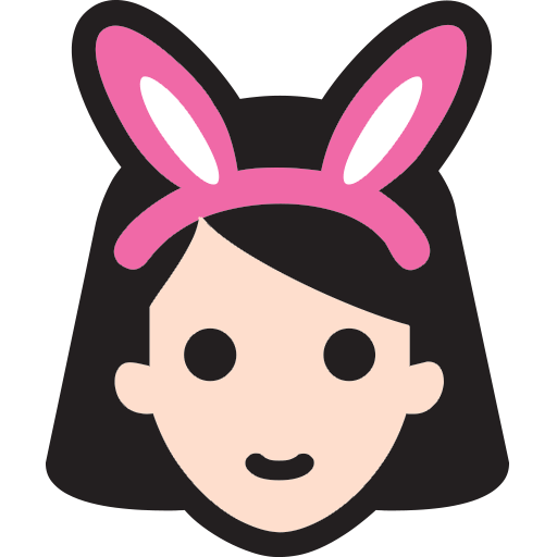 512x512 Woman With Bunny Ears Emoji For Facebook, Email Amp Sms Id  10020