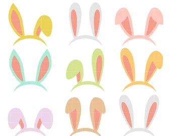 340x270 Bunny Ears Clip Art Etsy