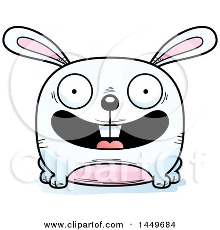 450x470 Royalty Free (Rf) Clipart Illustration Of A Hopping White Easter