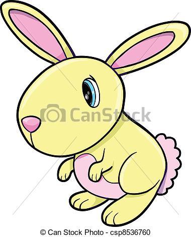 380x470 Cute Yellow Bunny Rabbit Animal Vector Illustration Art Vector