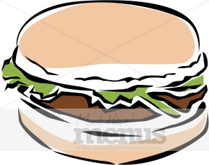 300x237 Veggie Burger Clipart Fast Food Clipart