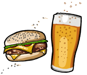 300x257 Burger And Beer Clipart Amp Burger And Beer Clip Art Images