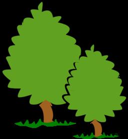 256x279 Small Trees Bushes Clipart I2clipart