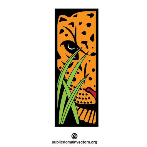 500x500 Tiger In The Bush Clip Art Public Domain Vectors