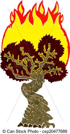 246x470 Tree Burning Clipart