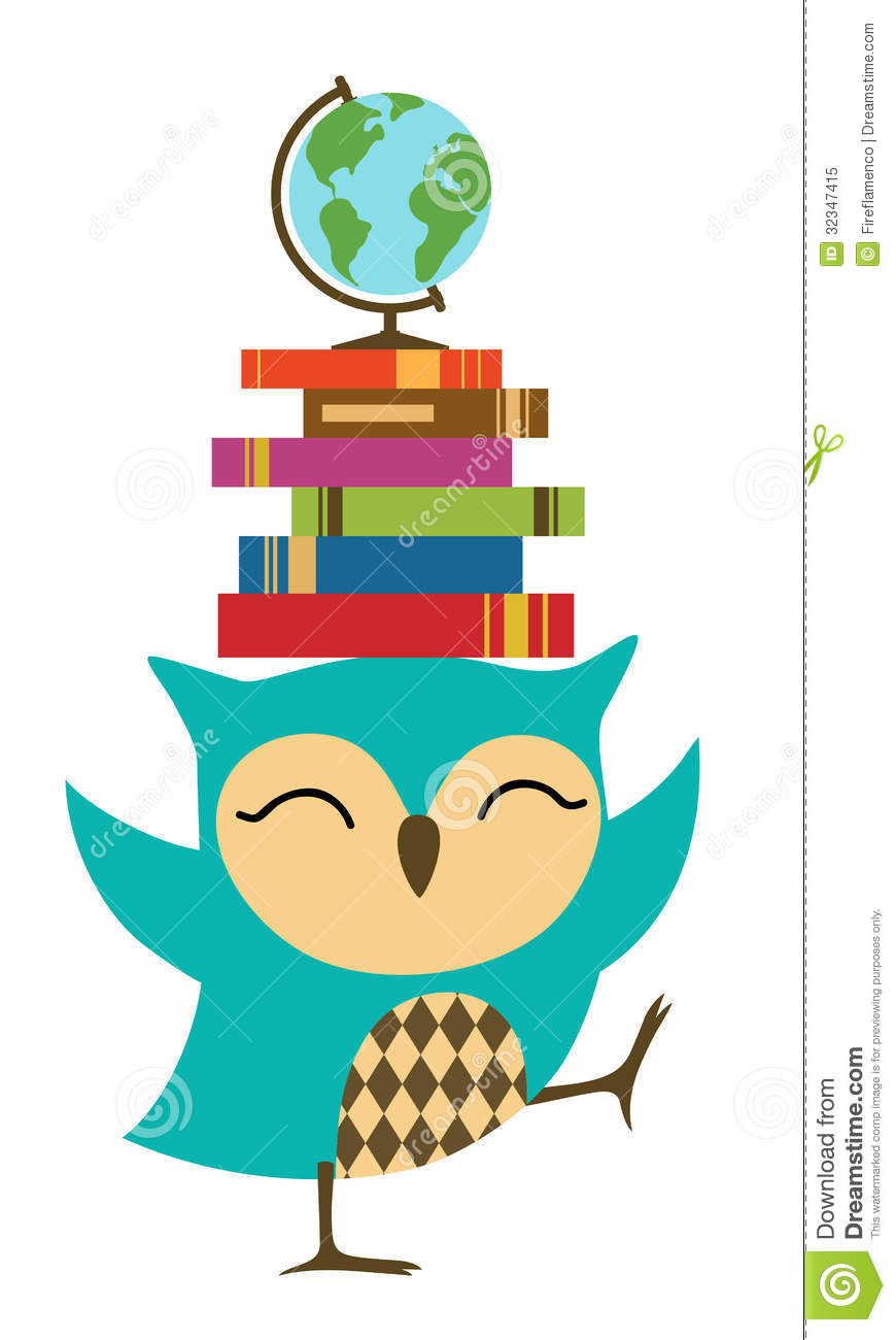 870x1300 School Owls Clip Art