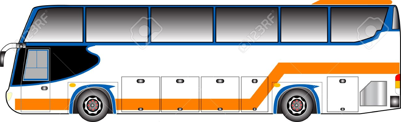 1300x398 Bus Clipart Side View